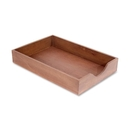 Carver Hedburg Genuine Walnut Desk Tray, Oak - Walnut