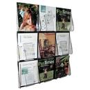 Deflect-o 9-Pocket Wall Mount Literature Rack, 27.4