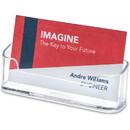 Deflect-o Desktop Business Card Holder, Plastic - 1 Each - Clear