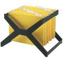 Deflect-o Desktop Hanging File X-Rack, 25 x Hanging Folder Capacity - Letter/Legal - Plastic - 1Each - Black