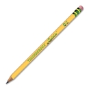 Ticonderoga Laddie Pencil with Eraser, #2 Pencil Grade - Yellow Barrel - 12 / Dozen