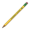 Ticonderoga Beginners Pencil with Eraser, #2 Pencil Grade - Yellow Barrel - 12 / Dozen