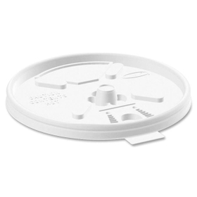 Dart DRC12FTL Dart Lift-n-Lock Coffee Cup Lid, Round - Plastic - 1000 / Carton - White, Price/CT