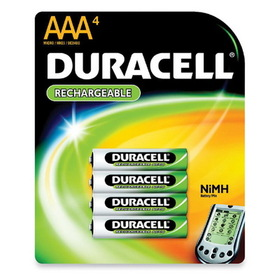 Duracell Nickel Metal Hydride General Purpose Battery, AAA - Nickel-Metal Hydride (NiMH) - 750mAh - 1.2V DC, Price/PK