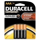 Duracell Alkaline General Purpose Battery, AAA - Alkaline - 1.5 V DC, DURMN2400B4Z