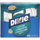 Dixie Foods Heavy-duty Cutlery, 168 Piece(s) - 168/Box - Plastic - White