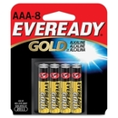 Eveready A92BP-8 Alkaline AAA Size General Purpose Battery, AAA - Alkaline - 1.5 V DC
