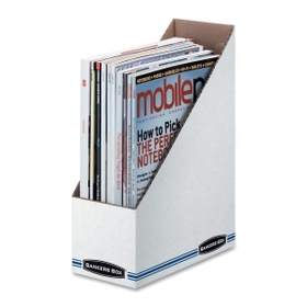 Fellowes FEL00723 Bankers Box Stor/File Magazine Files - Letter, Blue, White - Fiberboard - 1 Each, Price/EA