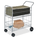 Fellowes Mail Cart, 200 lb Capacity - 2 x 10