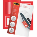 Fellowes Glossy Pouches - ID Tag not punched, 5 mil, 100 pack, 2.63