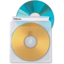 Fellowes Double-Sided CD/DVD Sleeves - 50 pack, Plastic - Clear - 2 CD/DVD