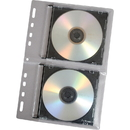Fellowes CD Binder Sheet - 10 pack, Sleeve - Slide Insert - Vinyl - Clear - 2 CD/DVD