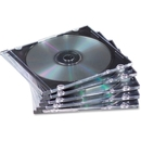 Fellowes NEATO Thin CD Jewel Case-Clear, 25 pack, Jewel Case - Book Fold - Plastic - Clear - 1 CD/DVD