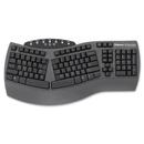 Fellowes Microban Split Design Keyboard, Cable - Black - USB - Computer - Multimedia, Internet Hot Key(s)