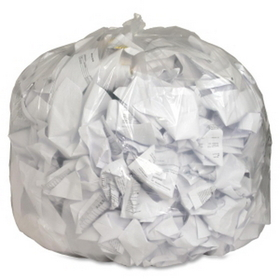 "Genuine Joe Super Hexene Clear Trash Can Liner, 56 gal - 48"" x 43"" - 0.8mil Thickness - Film - 100 / Box - Clear, Price/BX"