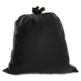 "Genuine Joe Heavy-Duty Trash Bag, 45 gal - 46"" x 39"" - 1.50 mil (38 Micron) Thickness - Low Density - 50/Box - Brown, Price/BX"