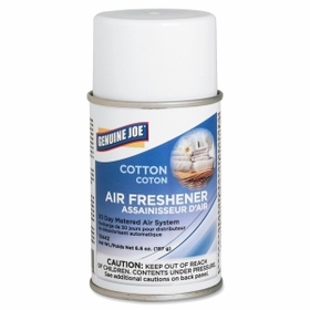 Genuine Joe GJO10442 Genuine Joe Metered Air Freshener, Aerosol - Cotton - 30 Day, Price/EA