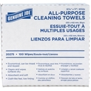 Genuine Joe All-Purpose Cleaning Towel, 100 Sheets Per Box - 100 / Box - 16.50