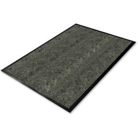 "Genuine Joe GJO55461 Genuine Joe Golden Series Walk-Off Mat, Warehouse - 72"" Length x 48"" Width - Vinyl, Polypropylene - Charcoal, Price/EA"