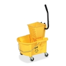 Genuine Joe Splash Guard Mop Bucket/Wringer, 6.50 gal - Black