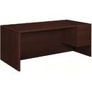 HON 10500 Series Right Single Pedestal Desk, 72