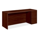 HON 10700 Series Credenza with Full-Height Right Pedestal, 72