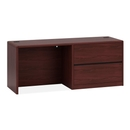 HON 10700 Series Right Pedestal Credenza with Lateral File, 72