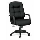 HON Pillow-soft 2090 Series High-back Executive Chair, Foam Black Seat - Foam Back - Black Frame - 26.3