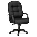 HON Pillow-soft 2090 Series High-back Executive Chair, Foam Charcoal Seat - Foam Back - Black Frame - 26.3