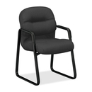 HON Pillow-Soft 2090 Series 2093 Guest chair, Foam Charcoal Seat - Charcoal Back - Black Frame - 23.3