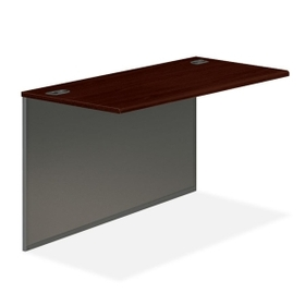 "HON 38000 Series Bridge, 48"" Width x 24"" Depth x 29.5"" Height - Radius Edge - Steel - Mahogany Top, Charcoal Frame, Price/EA"