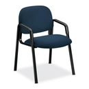 HON Solutions Seating 4003 Side-Arm Guest Chair, Polypropylene - Olefin Blue Seat - Polymer Back - Steel Black Frame - 23.5