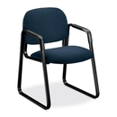 HON Solutions Seating 4008 Ergonomic Sled-Base Guest Chair, Polypropylene - Olefin Blue Seat - Steel Black Frame - 23.5