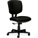HON Volt 5701 Basic Swivel Task Chair, Polyester Black Seat - Black Frame - 25.8