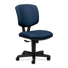 "HON Volt 5701 Basic Swivel Task Chair, Black Frame26"" x 19.25"" x 40"" - Polyester Blue Seat, Price/EA"