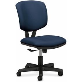 "HON Volt 5701 Basic Swivel Task Chair, Polyester Blue Seat - Black Frame - 25.8"" x 25.8"" x 40"" Overall Dimension, Price/EA"