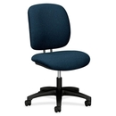 HON ComforTask 5901 Task Swivel Chair, Blue, Black - Olefin Blue Seat - Steel Black Frame - 23
