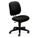 HON ComforTask 5902 Task Swivel Chair, Olefin Black Seat - Steel Black Frame - 23