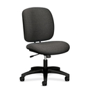 HON ComforTask 5902 Task Swivel Chair, Olefin Gray Seat - Steel Black Frame - 23