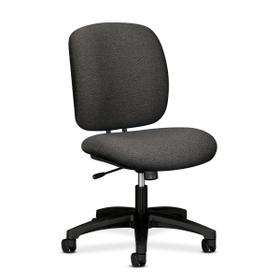 "HON ComforTask 5902 Task Swivel Chair, Olefin Gray Seat - Steel Black Frame - 23"" x 27.8"" x 39.8"" Overall Dimension, Price/EA"
