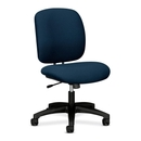 HON ComforTask 5902 Task Swivel Chair, Olefin Blue Seat - Steel Black Frame - 23