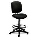 HON ComforTask 5905 Pneumatic Task stool, Black - Olefin Black Seat - Steel Black Frame - 26.8