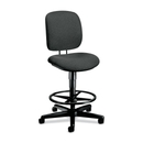 HON ComforTask 5905 Pneumatic Task stool, Gray - Olefin Gray Seat - Steel Black Frame - 26.8