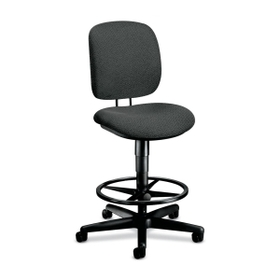 "HON ComforTask 5905 Pneumatic Task stool, Gray - Olefin Gray Seat - Steel Black Frame - 26.8"" x 30"" x 49.8"" Overall Dimension, Price/EA"