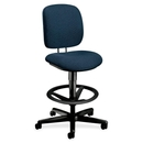 HON ComforTask 5905 Pneumatic Task stool, Blue - Olefin Blue Seat - Steel Black Frame - 26.8