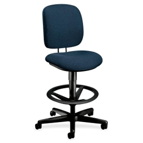 "HON HON5905AB90T HON ComforTask 5905 Pneumatic Task stool, Blue - Olefin Blue Seat - Back - Steel Black Frame - 26.8"" x 30"" x 49.8"" Overall Dimension, Price/EA"