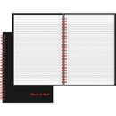 John Dickinson Black n' Red Wirebound Notebook, 70 Sheet - 24 lb - Ruled - A5 5.88