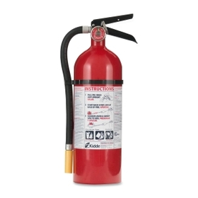 Kidde Pro 5 Fire Extinguisher, 5lb Capacity - B: Flammable Liquids - Rechargeable, Impact Resistant - Red, Price/EA