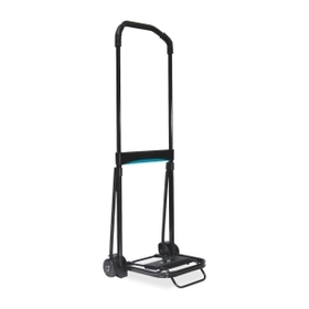Kantek KTKLGLC110 Kantek Ultra-Lite Folding Cart, Telescopic Handle - 110 lb CapacitySteel, Aluminum - Black, Price/EA