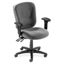 Lorell Accord Mid-Back Task Chair, Polyester Gray Seat - Black Frame